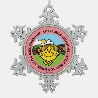 Little Miss Sunshine | Sunshine Circle Snowflake Pewter Christmas Ornament