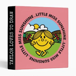 Little Miss Sunshine | Sunshine Circle Vinyl Binders