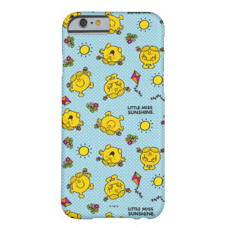 Little Miss Sunshine | Teal Polka Dot Pattern Barely There iPhone 6 Case