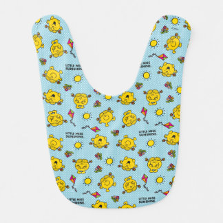 Little Miss Sunshine | Teal Polka Dot Pattern Bib