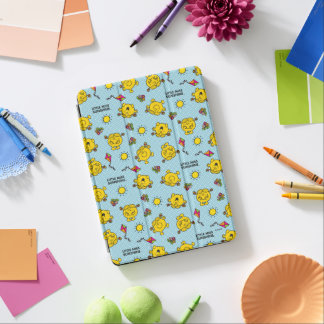 Little Miss Sunshine | Teal Polka Dot Pattern iPad Air Cover