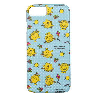 Little Miss Sunshine | Teal Polka Dot Pattern iPhone 8/7 Case