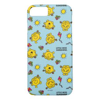 Little Miss Sunshine   Teal Polka Dot Pattern iPhone 8/7 Case