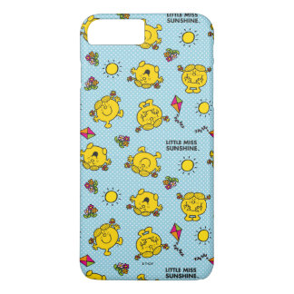 Little Miss Sunshine | Teal Polka Dot Pattern iPhone 8 Plus/7 Plus Case