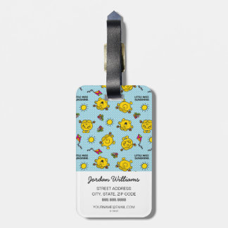 Little Miss Sunshine | Teal Polka Dot Pattern Luggage Tag