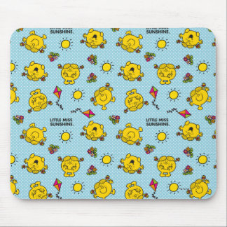 Little Miss Sunshine | Teal Polka Dot Pattern Mouse Pad