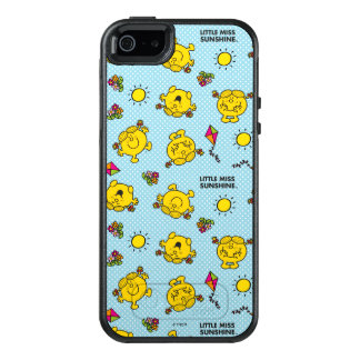 Little Miss Sunshine | Teal Polka Dot Pattern OtterBox iPhone 5/5s/SE Case