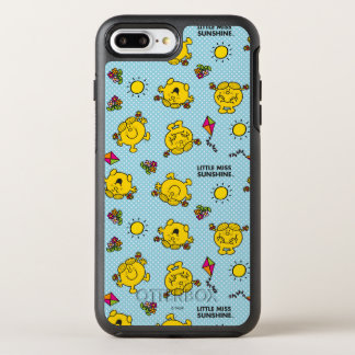 Little Miss Sunshine | Teal Polka Dot Pattern OtterBox Symmetry iPhone 8 Plus/7 Plus Case