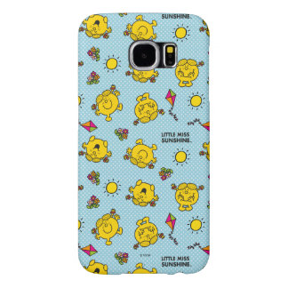 Little Miss Sunshine   Teal Polka Dot Pattern Samsung Galaxy S6 Cases