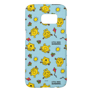 Little Miss Sunshine | Teal Polka Dot Pattern Samsung Galaxy S7 Case