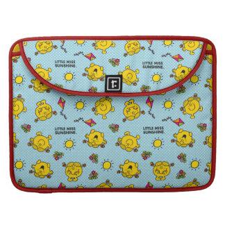 Little Miss Sunshine   Teal Polka Dot Pattern Sleeve For MacBook Pro