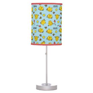 Little Miss Sunshine | Teal Polka Dot Pattern Table Lamp