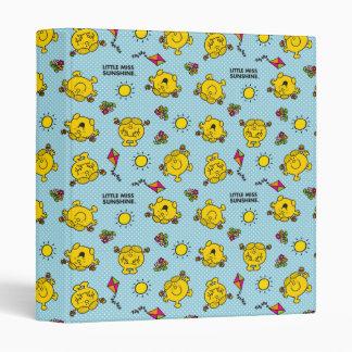 Little Miss Sunshine | Teal Polka Dot Pattern Vinyl Binder