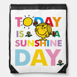 Little Miss Sunshine | Today is a Sunshine Day Drawstring Bag