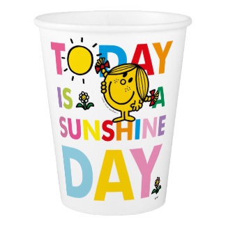 Little Miss Sunshine | Today is a Sunshine Day Paper Cup
