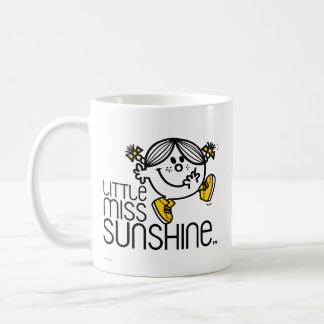 Little Miss Sunshine Walking On Name Graphic Classic White Coffee Mug