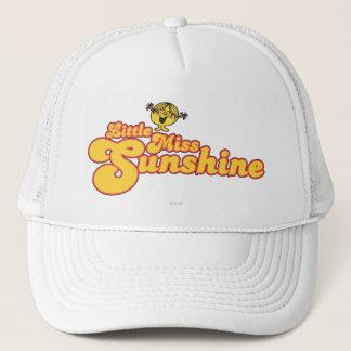 Little Miss Sunshine   Yellow Bubble Lettering Trucker Hat