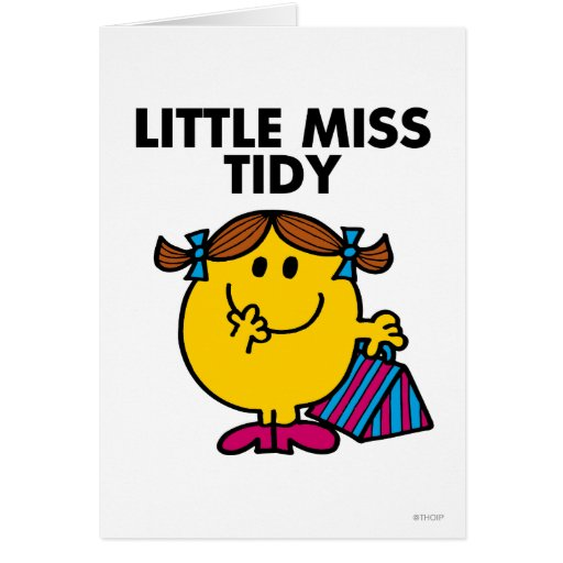 Little Miss Tidy Classic Greeting Card
