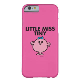 Little Miss Tiny | Black Lettering Barely There iPhone 6 Case