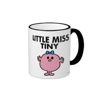 Little Miss Tiny | Black Lettering Ringer Coffee Mug