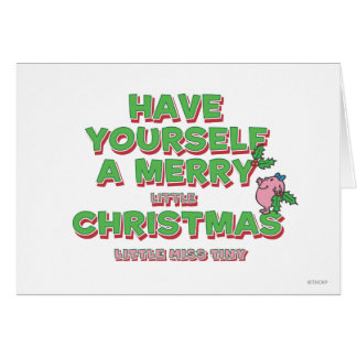 Little Miss Tiny Christmas Greeting Card
