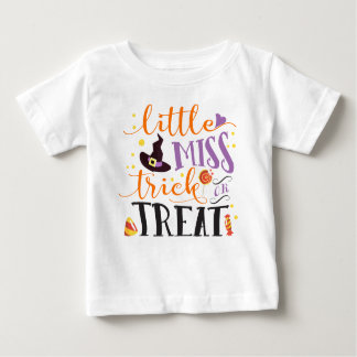 little miss trick or treat cute halloween baby T-Shirt