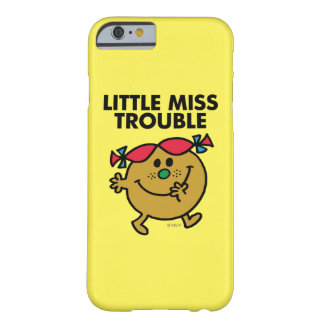 Little Miss Trouble | Black Lettering Barely There iPhone 6 Case