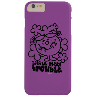Little Miss Trouble | Black & White Barely There iPhone 6 Plus Case