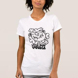 Little Miss Trouble | Black & White T-Shirt