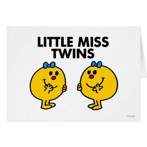 Little Miss Twins Classic Greeting Card