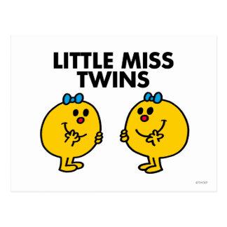 Little Miss Twins | Two Much Fun Postcard