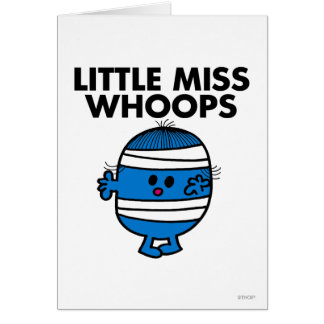 Little Miss Whoops Classic Greeting Card