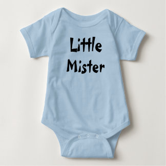 Little Mister baby boy outfit. Baby Bodysuit