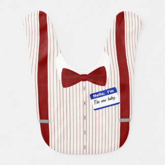 Little Mister Bow Tie And Suspenders Bib