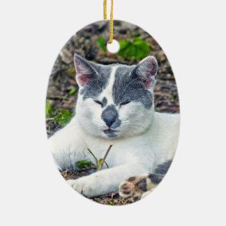 Little Mister Pants Ceramic Oval Ornament