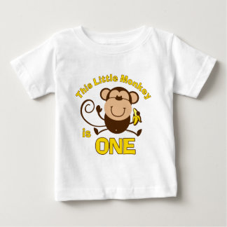 Little Monkey 1st Birthday Boy Infant T-shirt