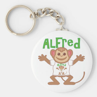 Little Monkey Alfred Basic Round Button Keychain