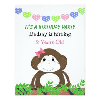 Little Monkey Birthday Invitation