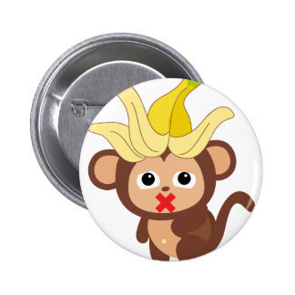 Little Monkey Collection 123 2 Inch Round Button