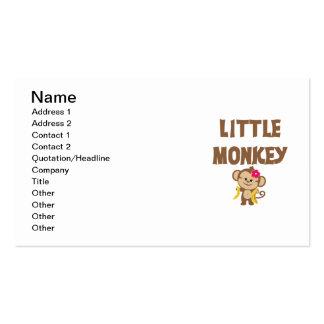 Little Monkey (Girl) Pack Of Standard Business Cards