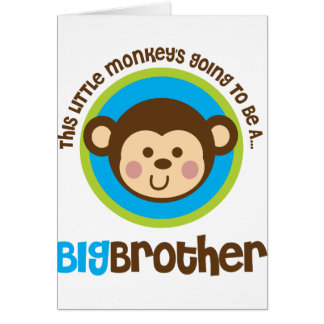 Little Monkey Going To Be A Big Brother Card