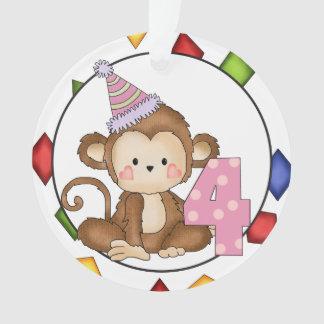 Little Monkey Happy Birthday Ornament
