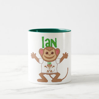 Little Monkey Ian Two-Tone Coffee Mug