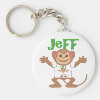 Little Monkey Jeff Basic Round Button Keychain