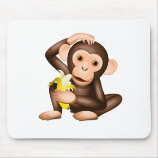 Little monkey mouse pad