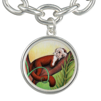 Little Monkey Silver Charm Bracelet