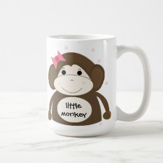 Little Monkey With A Pink Hair Bow Coffee Mug