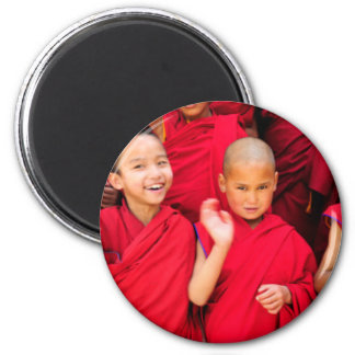 Little Monks in Red Robes Magnet