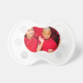 Little Monks in Red Robes Pacifier