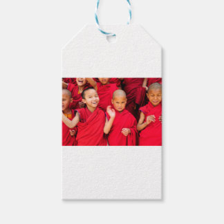 Little Monks in Red Robes Pack Of Gift Tags